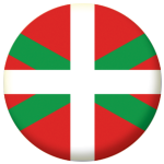 Basque Flag 25mm Flat Back.
